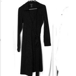 EXPRESS wrap black dress Sz11/12 like new
